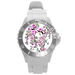 Cherry Bloom Spring Plastic Sport Watch (large) by TheWowFactor