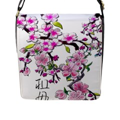 Cherry Bloom Spring Flap Closure Messenger Bag (large) by TheWowFactor