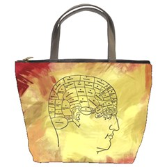 Brain Map Bucket Handbag