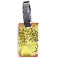 Brain Map Luggage Tag (two Sides) by StuffOrSomething
