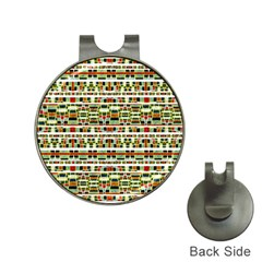 Aztec Grunge Pattern Hat Clip With Golf Ball Marker by dflcprints