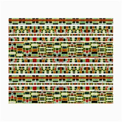 Aztec Grunge Pattern Glasses Cloth (small, Two Sided) by dflcprints