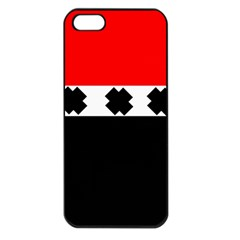 Red, White And Black With X s Electronic Accessories Apple Iphone 5 Seamless Case (black) by Khoncepts