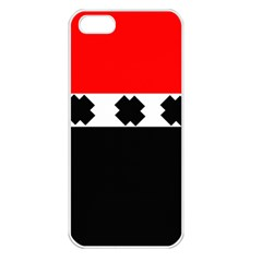 Red, White And Black With X s Electronic Accessories Apple Iphone 5 Seamless Case (white) by Khoncepts