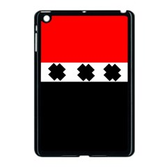 Red, White And Black With X s Electronic Accessories Apple Ipad Mini Case (black) by Khoncepts