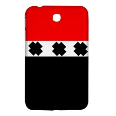 Red, White And Black With X s Electronic Accessories Samsung Galaxy Tab 3 (7 ) P3200 Hardshell Case  by Khoncepts