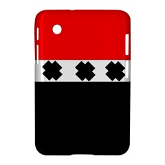 Red, White And Black With X s Electronic Accessories Samsung Galaxy Tab 2 (7 ) P3100 Hardshell Case  by Khoncepts