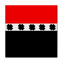 Red, White And Black With X s Design By Celeste Khoncepts Ceramic Tile by Khoncepts