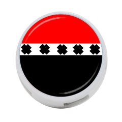 Red, White And Black With X s Design By Celeste Khoncepts 4-port Usb Hub (one Side) by Khoncepts