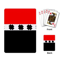 Red, White And Black With X s Design By Celeste Khoncepts Playing Cards Single Design