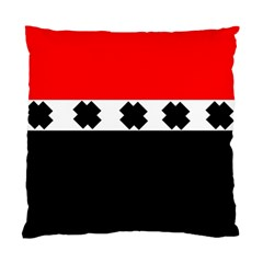 Red, White And Black With X s Design By Celeste Khoncepts Cushion Case (two Sided)  by Khoncepts