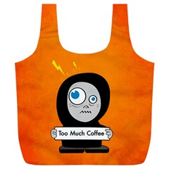 Orange Funny Too Much Coffee Reusable Bag (xl) by CreaturesStore