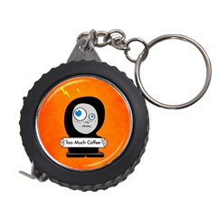Orange Funny Too Much Coffee Measuring Tape by CreaturesStore