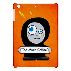 Orange Funny Too Much Coffee Apple Ipad Mini Hardshell Case by CreaturesStore