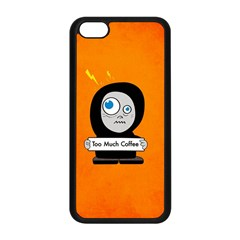 Orange Funny Too Much Coffee Apple Iphone 5c Seamless Case (black)