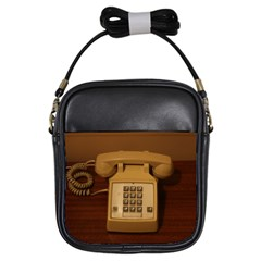 Vintage Retro Telephone Girl s Sling Bag by stineshop