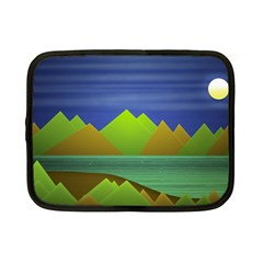 Landscape  Illustration Netbook Sleeve (small) by dflcprints