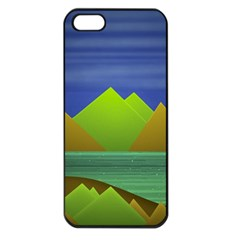 Landscape  Illustration Apple Iphone 5 Seamless Case (black) by dflcprints
