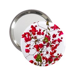 Red Petals Handbag Mirror (2 25 ) by dflcprints