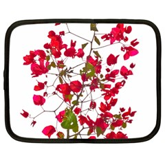 Red Petals Netbook Sleeve (xl) by dflcprints