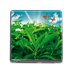 Nature Day Memory Card Reader With Storage (square) by dflcprints