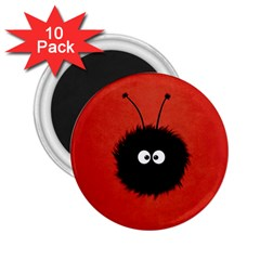 Red Cute Dazzled Bug 2 25  Button Magnet (10 Pack) by CreaturesStore