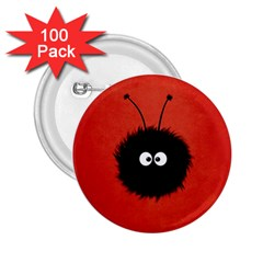 Red Cute Dazzled Bug 2 25  Button (100 Pack)