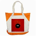 Red Cute Dazzled Bug Accent Tote Bag Front
