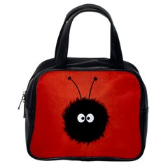 Red Cute Dazzled Bug Classic Handbag (one Side) by CreaturesStore