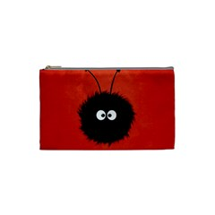 Red Cute Dazzled Bug Cosmetic Bag (small) by CreaturesStore