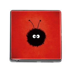 Red Cute Dazzled Bug Memory Card Reader With Storage (square)