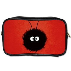 Red Cute Dazzled Bug Travel Toiletry Bag (two Sides)