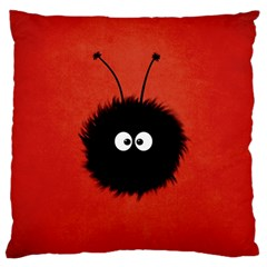 Red Cute Dazzled Bug Large Cushion Case (single Sided)  by CreaturesStore
