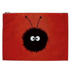 Red Cute Dazzled Bug Cosmetic Bag (xxl) by CreaturesStore