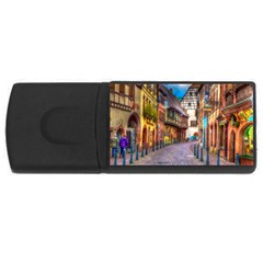 Alsace France 4gb Usb Flash Drive (rectangle) by StuffOrSomething