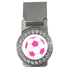 Soccer Ball Pink Money Clip (cz) by Designsbyalex
