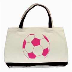 Soccer Ball Pink Classic Tote Bag by Designsbyalex