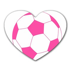 Soccer Ball Pink Mouse Pad (heart) by Designsbyalex