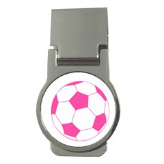 Soccer Ball Pink Money Clip (round) by Designsbyalex