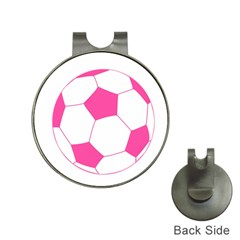 Soccer Ball Pink Hat Clip With Golf Ball Marker by Designsbyalex
