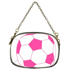 Soccer Ball Pink Chain Purse (two Sided)