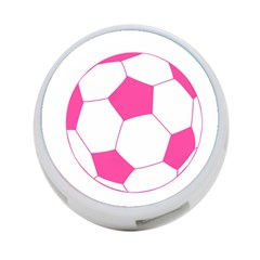 Soccer Ball Pink 4 Port Usb Hub (two Sides) by Designsbyalex