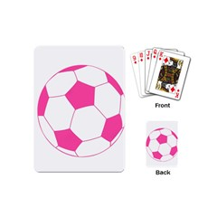 Soccer Ball Pink Playing Cards (mini) by Designsbyalex