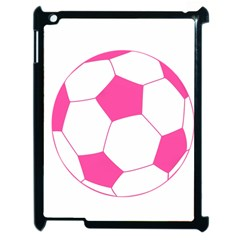 Soccer Ball Pink Apple Ipad 2 Case (black) by Designsbyalex
