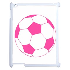 Soccer Ball Pink Apple Ipad 2 Case (white) by Designsbyalex