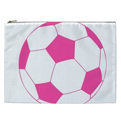 Soccer Ball Pink Cosmetic Bag (xxl)