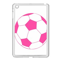 Soccer Ball Pink Apple Ipad Mini Case (white) by Designsbyalex