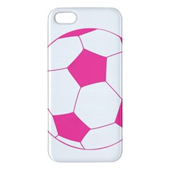 Soccer Ball Pink Apple Iphone 5 Premium Hardshell Case by Designsbyalex