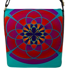Mandala Flap Closure Messenger Bag (small)