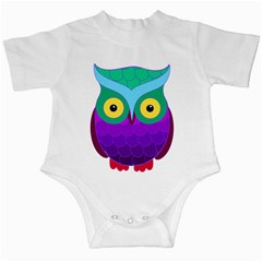 Groovy Owl Infant Bodysuit by SaraThePixelPixie